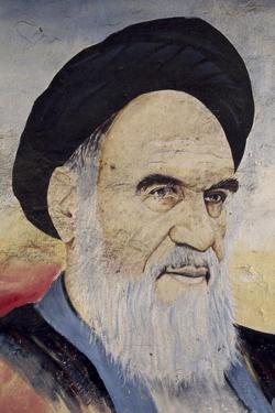 Portrait of Ruhollah Musawi Khomeini (1902-1989), 1994