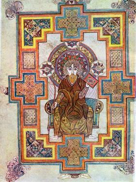 Portrait of Saint John from the Book of Kells, C800