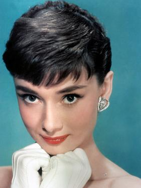 Portrait of the American Actress Audrey Hepburn, Photo for Promotion of Film Sabrina, 1954