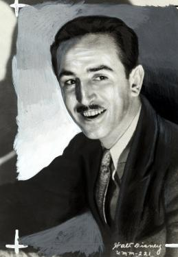 Portrait of the Animated Cartoon Artist and Producer Walt Disney