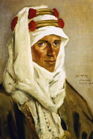 Portrait of Thomas Edward Lawrence, known as Lawrence of Arabia