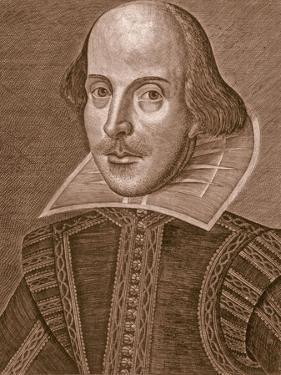 Portrait of William Shakespeare, Engraved by Martin Droeshout (C.1560-C.1642), 1623