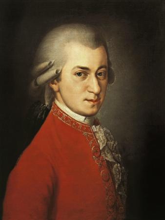 Portrait of Wolfgang Amadeus Mozart by Barbara Krafft