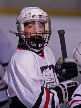 Portrait of Young Ice Hockey Player