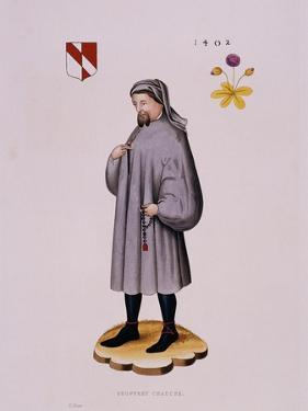 Portrait Print of Geoffrey Chaucer