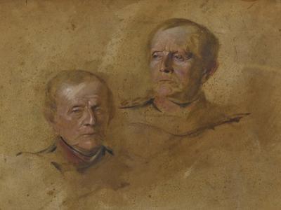 Portrait Studies of Field Marshal Helmuth Graf von Moltke (1800-1891), ca 1880-1885