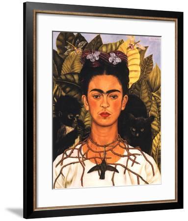 Portrait with Necklace-Frida Kahlo-Framed Art Print