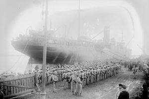 Portuguese Troops disembarking, Brest, 1917