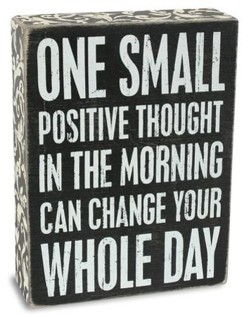 Positive Thought Box Sign