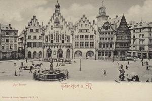 Postcard Depicting a General View of the Romer Area of Frankfurt