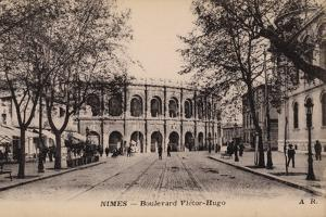 Postcard Depicting the Boulevard Victor-Hugo and the Roman Amphitheatre