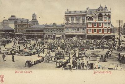 Postcard Depicting the Market Square in Johannesburg