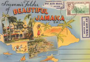 Postcard Folder, Beautiful Jamaica