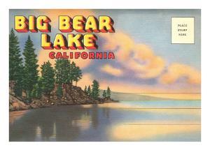 Postcard Folder, Big Bear Lake, California