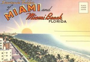 Postcard Folder, Miami, Florida