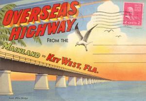 Postcard Folder, Overseas Highway, Key West, Florida