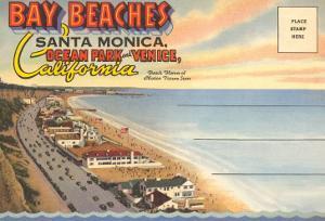 Postcard Folder, Santa Monica, California