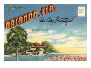 Postcard Folder, Souvenir of Orlando, Florida