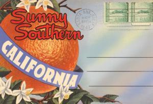 Postcard Folder, Sunny Southern California