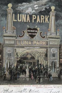 Postcard of Luna Park at Coney Island