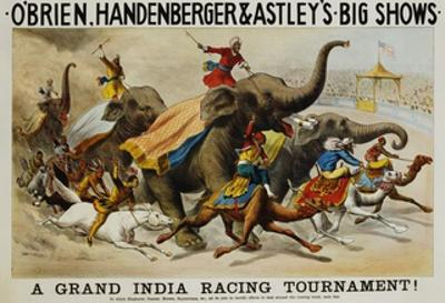 Poster Advertisement for O'Brien, Handenberger and Astley's Big Shows