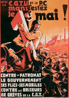 Poster Advertising a 1st May Demonstration by the C.G.T.U. and the P.C. Against Employers
