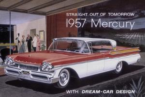 Poster Advertising a Mercury Car, 1957