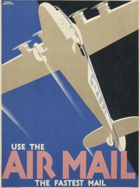 """Poster Advertising Air Mail Saying """"Use the Air Mail, the Fastest Mail"""""""