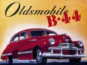 Poster Advertising an Oldsmobile B44, 1942