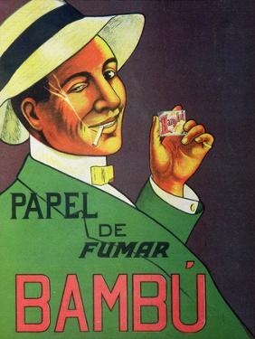 Poster Advertising Bambu Cigarette Papers, 1920