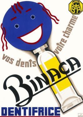 Poster Advertising Binaca Toothpaste