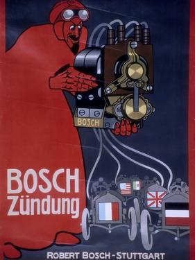 Poster Advertising Bosch Ignition Systems