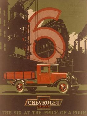 Poster Advertising Chevrolet Trucks, C1930s