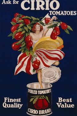 Poster Advertising Cirio Tomatoes, C.1920