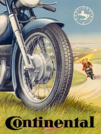 Poster Advertising Continental Tyres, C.1950