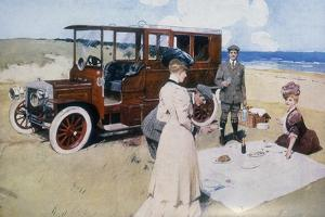 Poster Advertising Daimler Cars, 1907