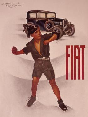 Poster Advertising Fiat Cars, C1930s