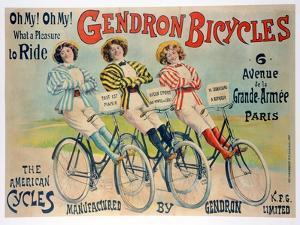 Poster Advertising Gendron Bicycles, Published by Chambrelent, Paris