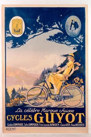 Poster Advertising Guyot Bicycles