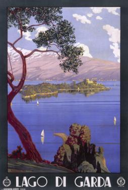 Poster Advertising Lake Garda, Italy - an Idyllic Scene
