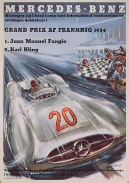 Poster Advertising Mercedes-Benz Motor Cars, 1954
