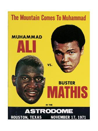 Poster Advertising Muhammad Ali Vs. Buster Mathis, 17th November, 1971