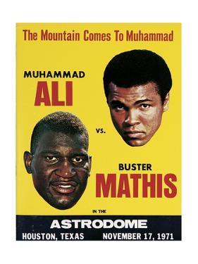Poster Advertising Muhammad Ali Vs. Buster Mathis, 17th November, 1971