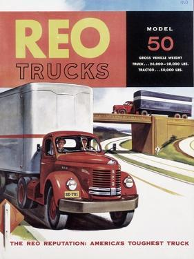 Poster Advertising Reo Trucks, 1958