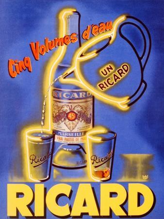 Poster Advertising 'Ricard', C.1938