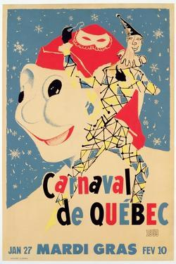Poster Advertising the Carnival De Quebec, C.1959