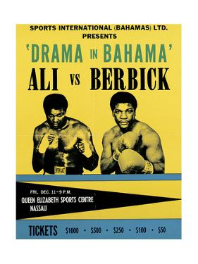 Poster Advertising the 'Drama in Bahama' Fight Between Muhammad Ali and Trevor Berbick, 1981