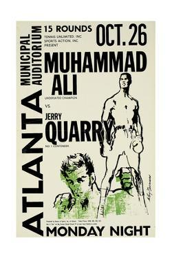Poster Advertising the Fight Between Muhammad Ali and Jerry Quarry