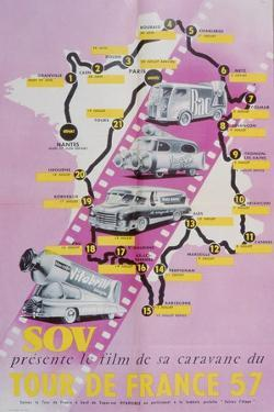 Poster Advertising the Film of the 'Tour De France 1957', 1957
