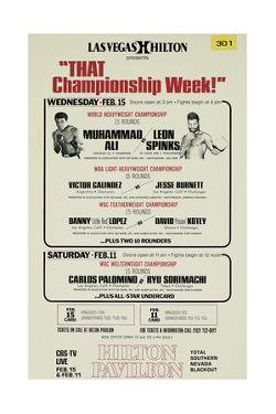 Poster Advertising the First Fight Between Muhammad Ali and Leon Spinks at the Las Vegas Hilton